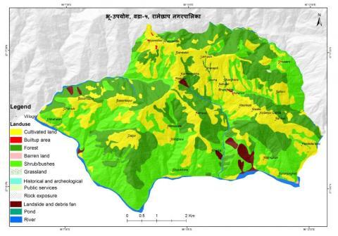 Map of ward no.5, Rampur