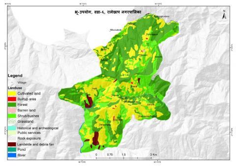Map of ward no. 6, Okhreni