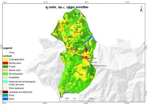 Map of ward no. 8, Ramechhap